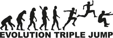 Evolution Hinkstapspringen Dreisprung