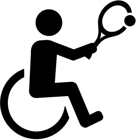 rehab: Wheelchair Tennis pictogram