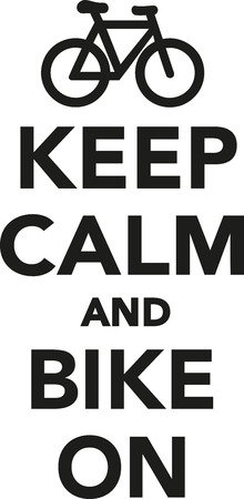 mountain bicycling: Keep calm and bike on Illustration
