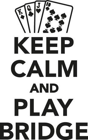 game icon: Keep calm and play bridge