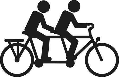 Tandem bicycle pictogram