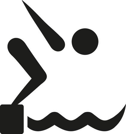 diving platform: High diving symbol