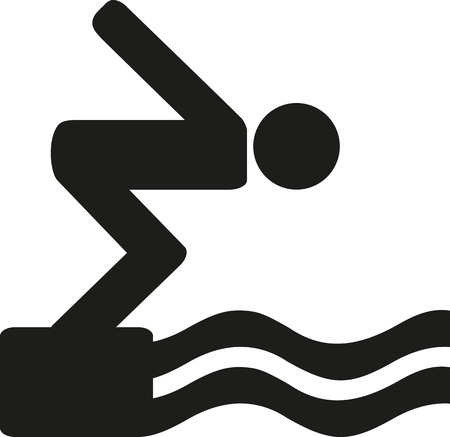 diving platform: High diving icon