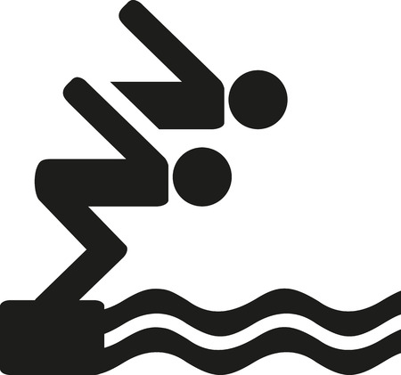 diving platform: High diving pictogram
