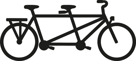 mountain bicycling: Tandem bike Illustration