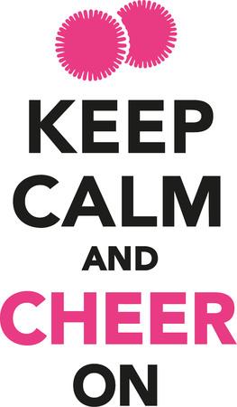 porrista: Mantenga la calma y animar a Cheerleading Vectores