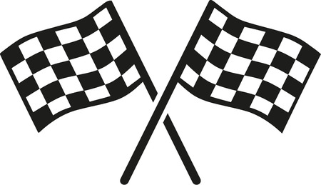 racer flag: Kartracing goal flags