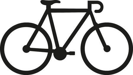 racing bike: Racing bike icon Illustration