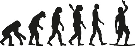 homo: Slackline evolution wire walker Illustration