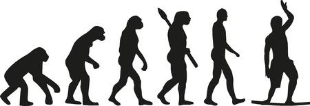 tightrope walker: Slackline evolution wire walker Illustration