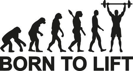 Nacido para levantar pesas evolución