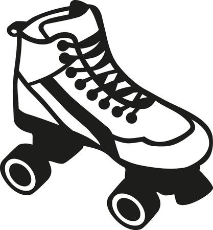 inline skating: Rollerblades outline