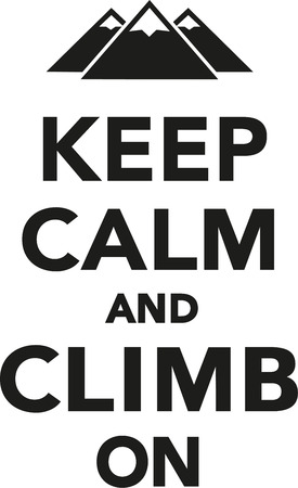 clambering: Keep calm and climb on Illustration