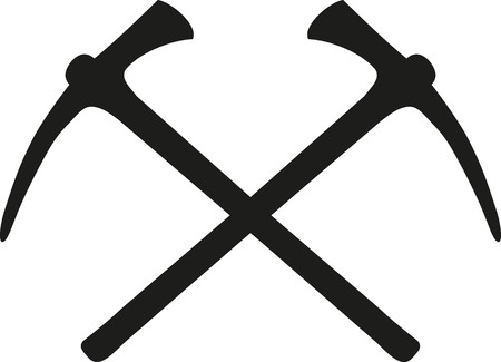 picks: Crossed ice picks