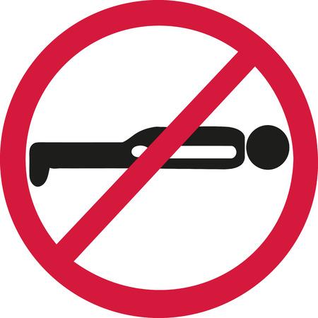 forbidden: Planking forbidden Illustration