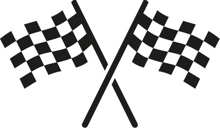 kart: Two goal flags Illustration