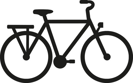 cyclist silhouette: Ciy Bike silhouette Illustration