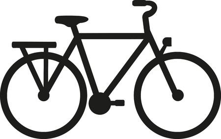 Ciy Bike silhouette Stock Illustratie