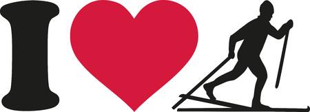 cross country: I love Cross country ski silhouette