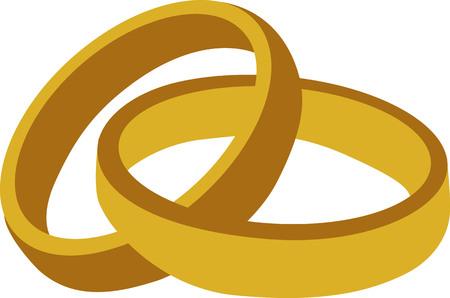 Golden anillos de boda