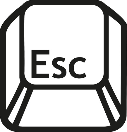 esc: Escape button key