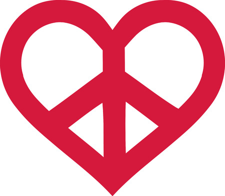 heart sign: Read peace sign heart shaped