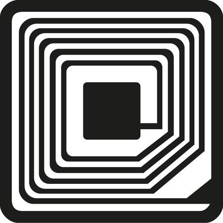 rfid: RFID symbol Illustration