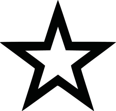 black: Outlined star black