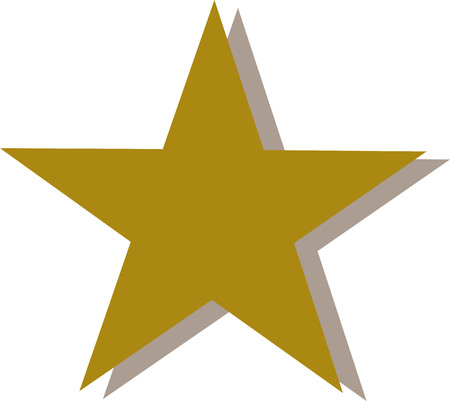 shaddow: Golden star with shaddow