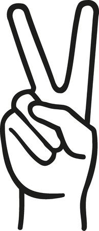 fingers: Peace fingers