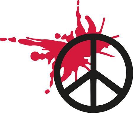 Peace sign with blood