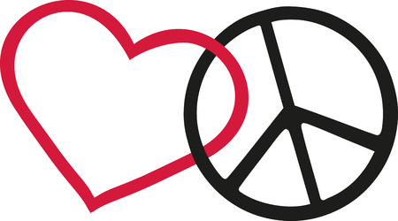 Love and peace icons