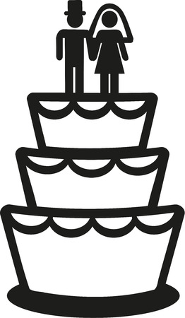 wedding cake: Wedding cake icon