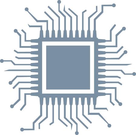 computer cpu: CPU computer chip