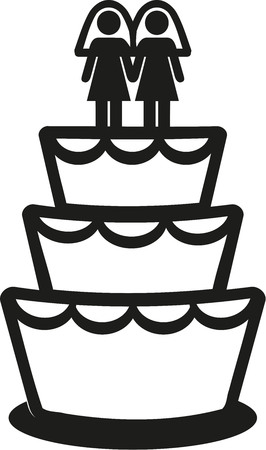 lesbianas: torta de la boda de lesbianas