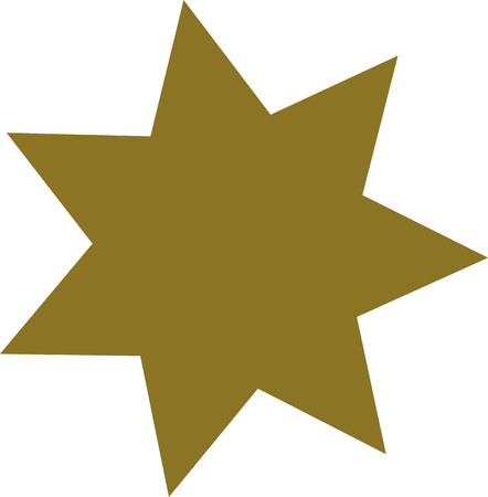 Gold seven-pointed star