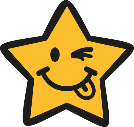 blinking: Funny cartoon star blinking