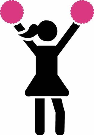 cheer: Cheerleader icon