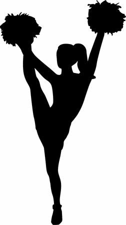 cheerleading: Cheerleading girl Illustration