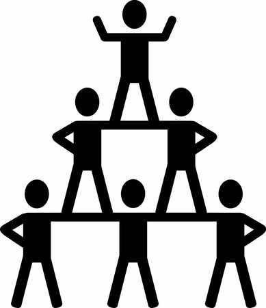 cheerleading: Cheerleading pyramid icon