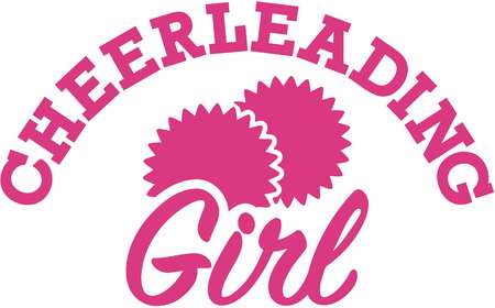 cheer: Cheerleading girl Illustration