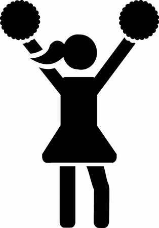 choreography: Cheerleader pictogram