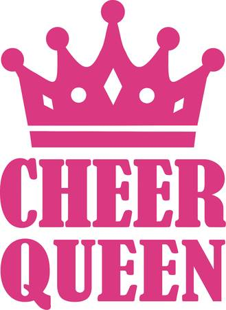 Cheer Queen with crown