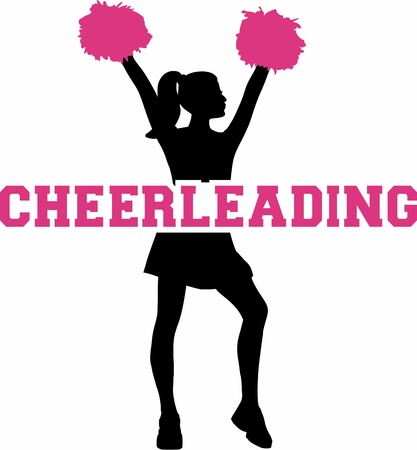 cheerleading: Cheerleading with silhouette Illustration