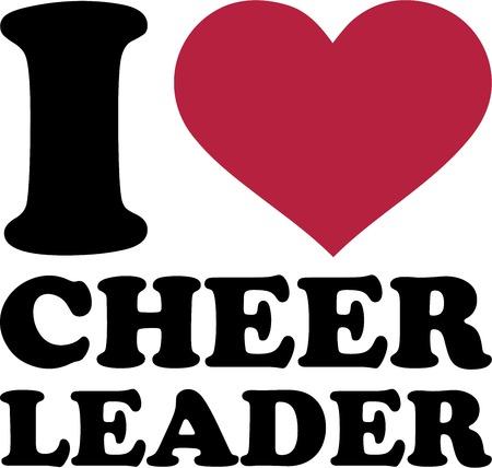 pom pom: I love cheerleader