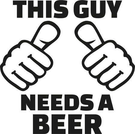 This guy needs a beer with thumbs
