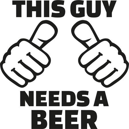 Ten facet potrzebuje piwa z kciukami