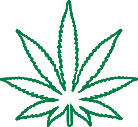 Marijuana leaf outline 일러스트