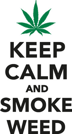 Keep calm and smoke weed marijuana 向量圖像