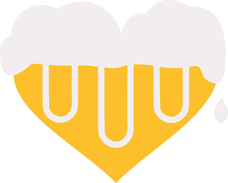 foam: Beer heart with foam